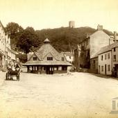 England Dunster Somerset Butter Market and Conygar tower,  photo James Valentine 1886