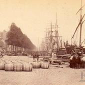 Rotterdam Boompjes Foto P. Oosterhuis rond 1875