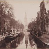 Amsterdam Groenburgwal rond 1880 foto v/h collectie Barker