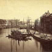 Rotterdam Oude Haven rond 1880 Albumentype
